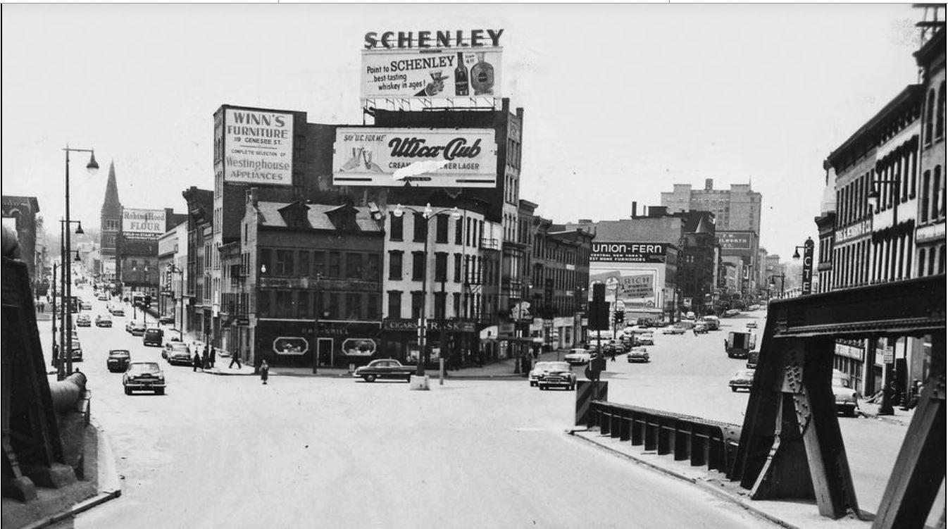 Baggs Square Utica NY 1950's