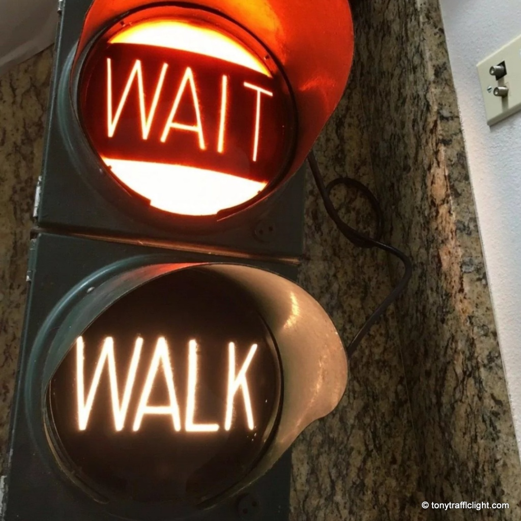 Crouse Hinds Art Deco WAIT WALK Signal