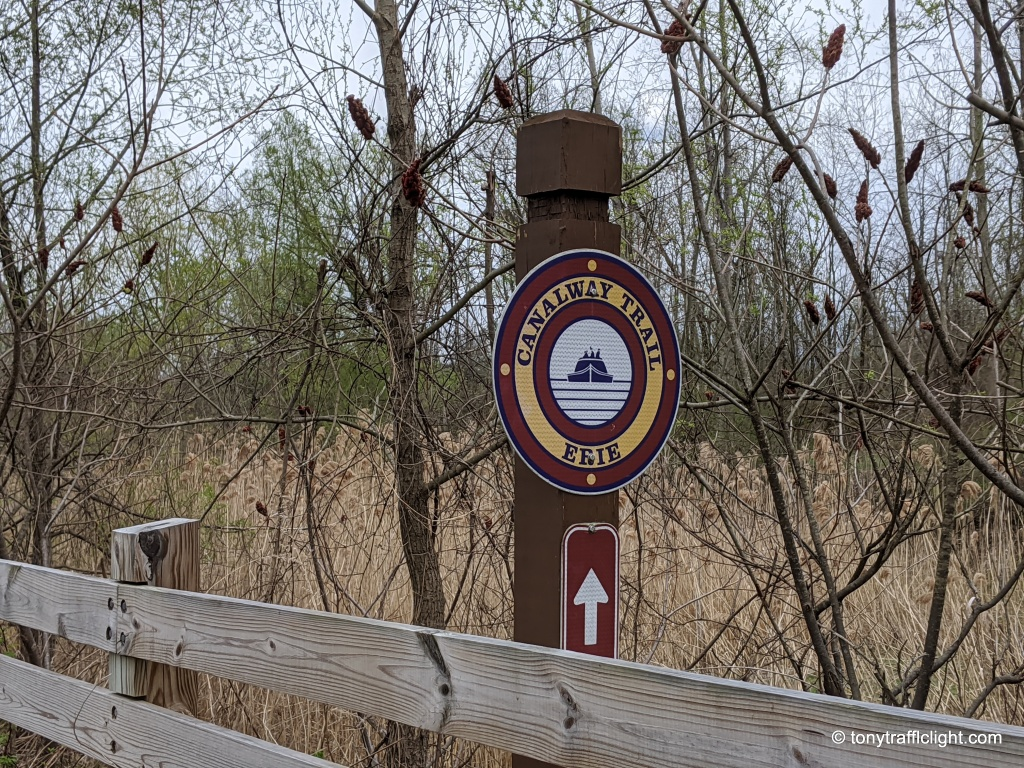 Erie Canal trail sign